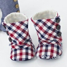 Toddler 3 Button Boots PDF Pattern Size 5,6,7 (#94)