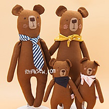 Bear Family Dolls PDF Pattern (#2480)