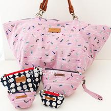 Miah Big Bag and Pouches (3 sizes) PDF Pattern (#2557)