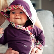 Hooded Baby Kimono Wrap Jacket PDF Pattern (#474)