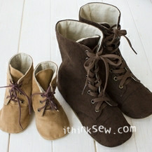 Adler Mom & Baby's Combat Boots PDF Pattern - 20% Off! (#719)