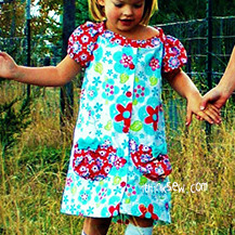 Classic Button Up Girls Dress PDF Pattern (#801)