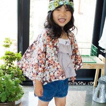 Saki Kid's Kimono Cardigan PDF Pattern (#809)