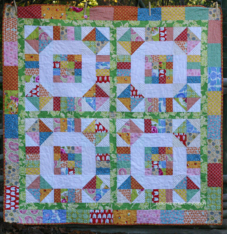 Picture of Wagon Wheels Quilt PDF Pattern