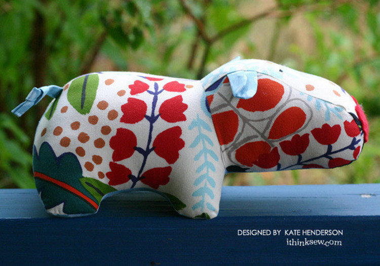 Picture of Harry Hippo PDF Pattern