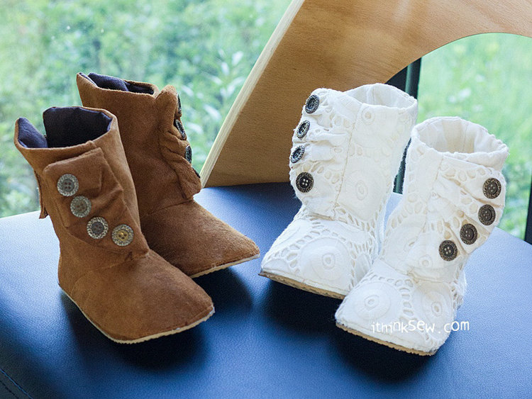 Picture of Lilo Baby Boots PDF Pattern