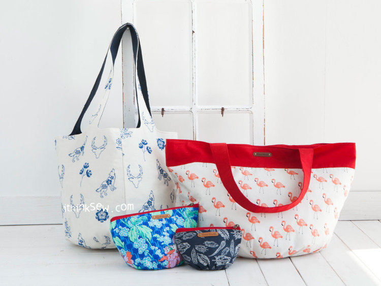 Picture of Two Bags & Octavia Pouches PDF Pattern