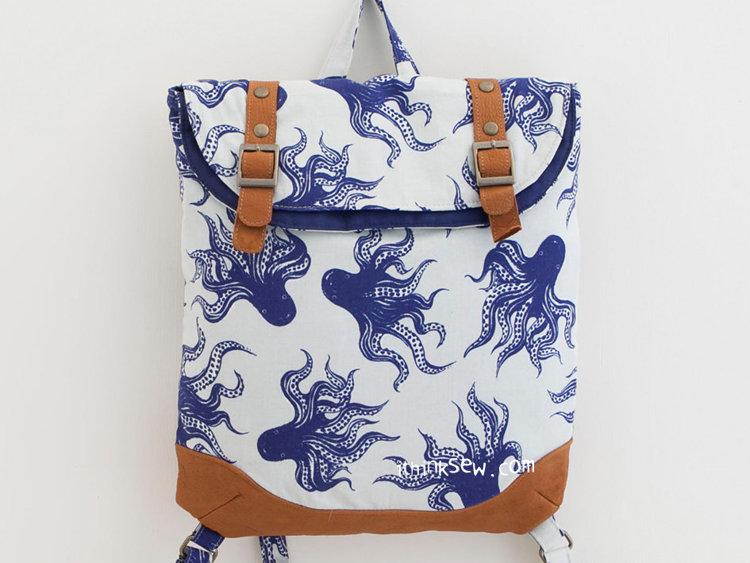 Picture of Brigitta Foldover Backpack PDF Pattern