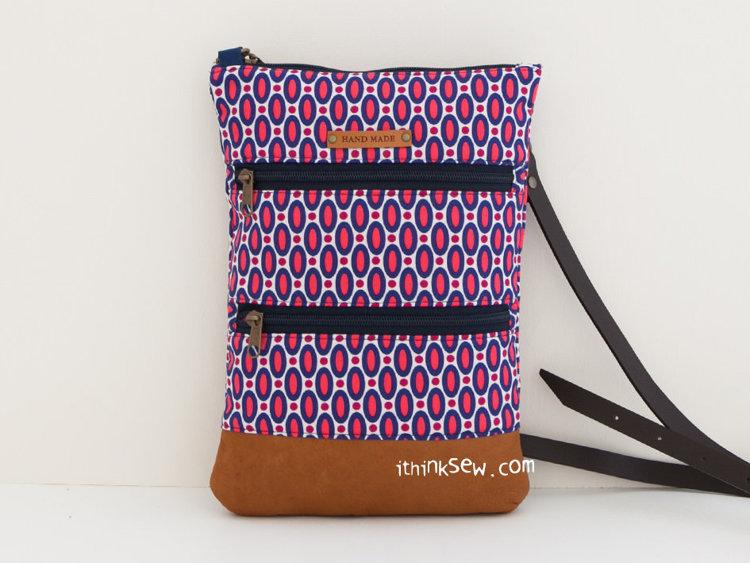 Picture of Adina Crossbody Double Zipper Bag PDF Pattern