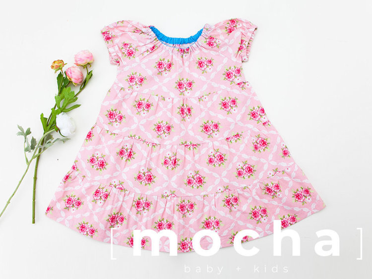Picture of (6M-24M) Naomi Raglan Dress for Baby PDF Pattern