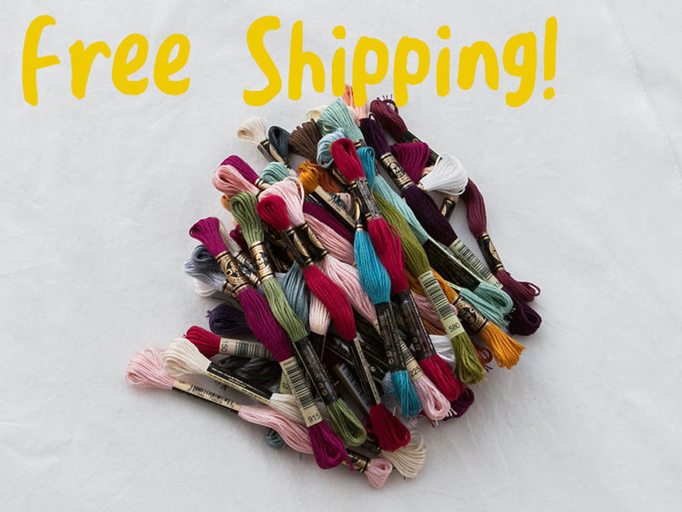 Picture of DMC No.25 Floss 489 Skeins All Color Set - Free shipping