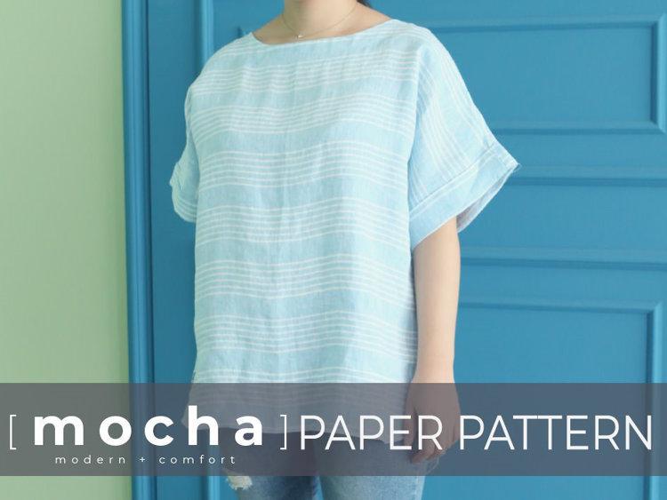Picture of MOCHA Joy Blouse Paper Pattern