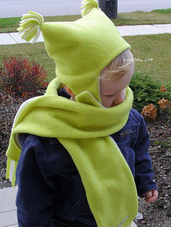 Picture of FREE - Addison Baby Hat & Muffler PDF Pattern