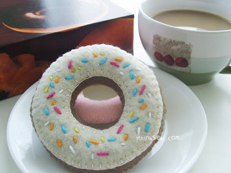 Picture of FREE - Felt Duncan Donut PDF Pattern