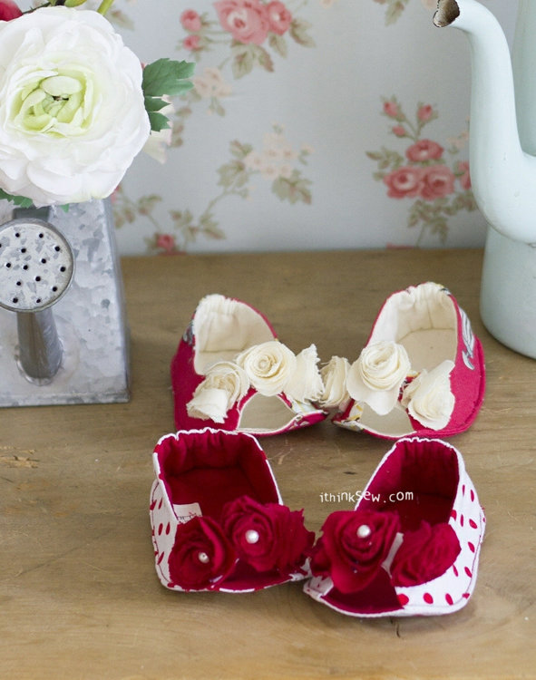 Picture of Angelina Baby Flats PDF Pattern