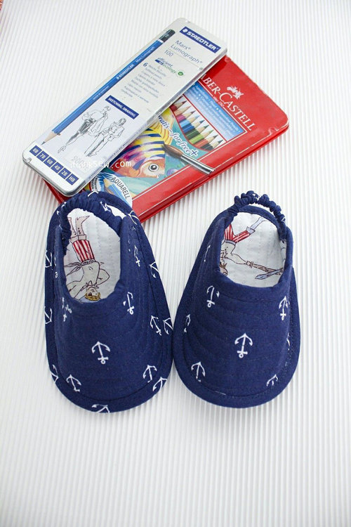 Picture of Norman Baby Slippers PDF Pattern