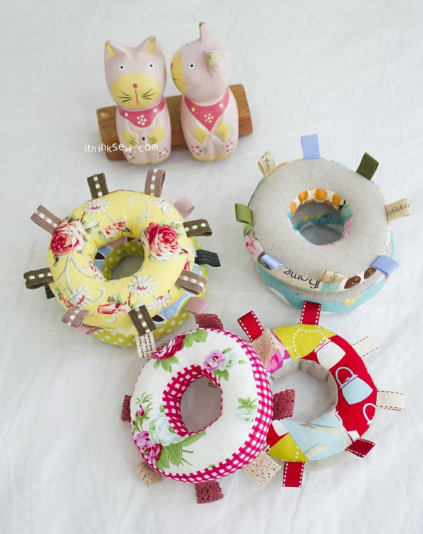 Picture of Thelma Baby Bib and Rattle Set PDF Pattern