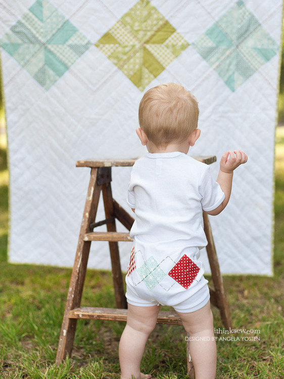 Picture of Baby Argyle Quilt PDF Pattern