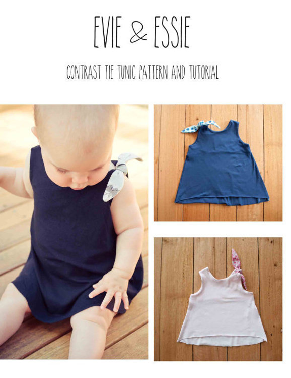 Picture of Girl's Tie Tunic Top PDF Pattern
