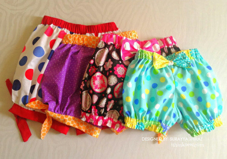 Picture of Bubble Shorts PDF Pattern