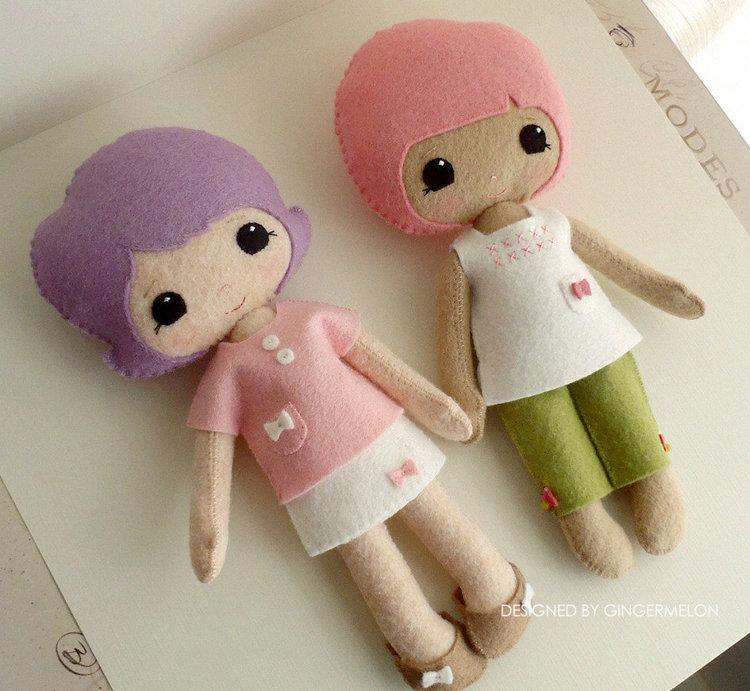 Picture of Best Friends Doll PDF Pattern