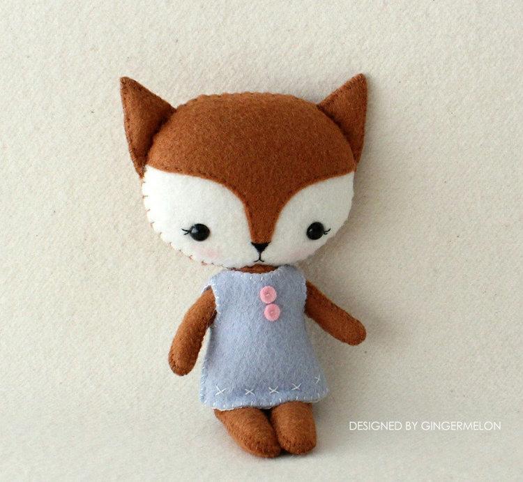 Picture of Pocket Fox PDF Pattern