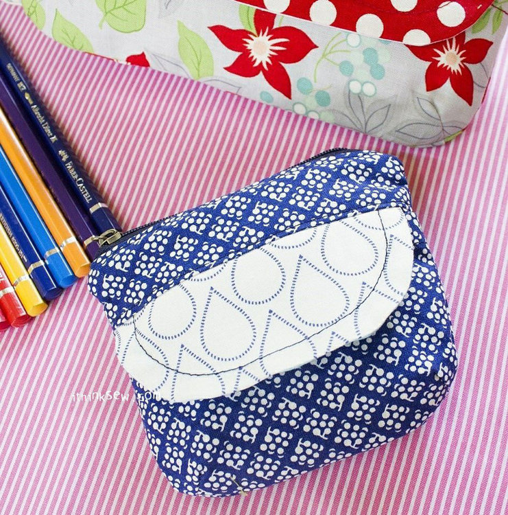 Picture of Coin, Pencil Cosmetic Pouches PDF Pattern (#573)