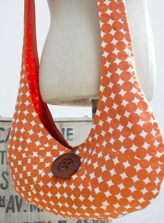 Picture of Patched Hobo Bag PDF Pattern