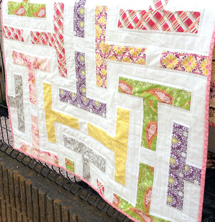 Picture of Tea For Two Jelly Roll PDF Quilt Pattern