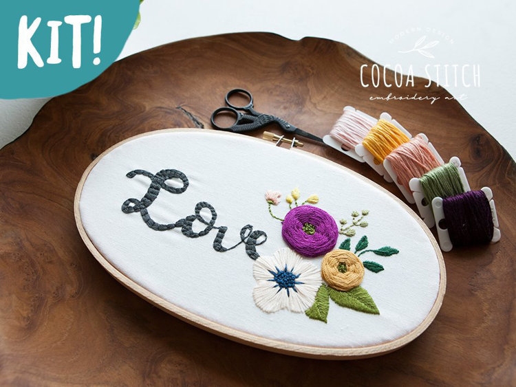 "Picture of 5""X 9"" Oval Shape Love Embroidery Kit"