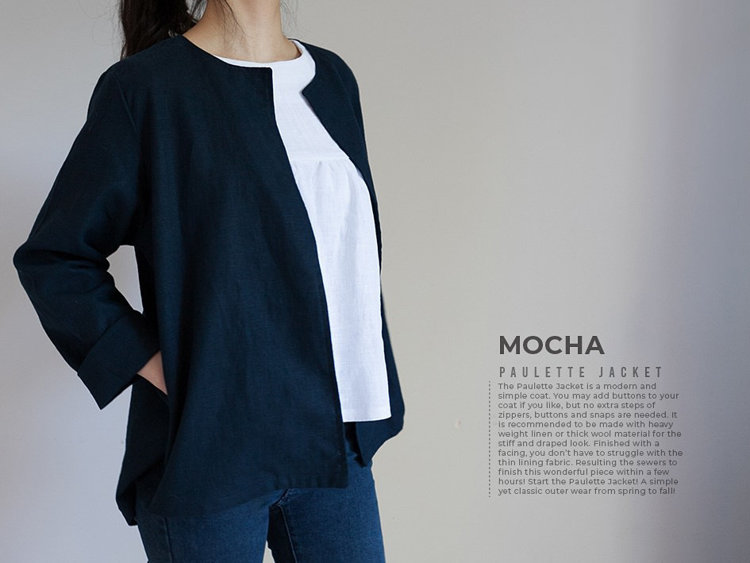 Picture of MOCHA Paulette Jacket PDF Pattern