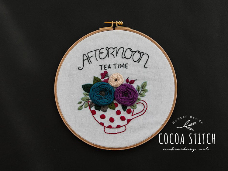 """Picture of 9"""" Afternoon Tea Time PDF Pattern"""