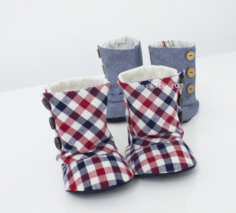 Picture of Toddler 3 Button Boots PDF Pattern Size 5,6,7