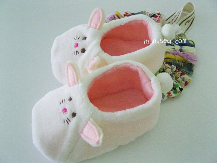 Picture of Macy Rabbit Booties PDF Pattern
