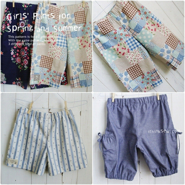 Picture of FREE - Girls Pants PDF Pattern