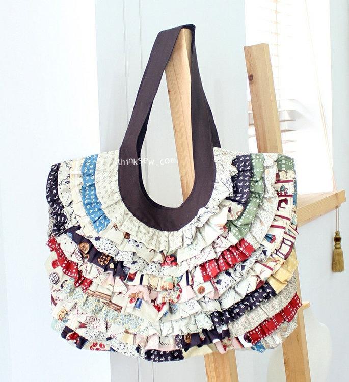 Picture of Vivian Ruffled Bag - PDF Pattern