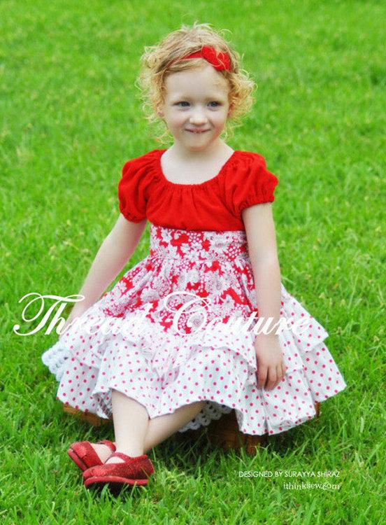 Picture of Allana Peasant Dress PDF Pattern