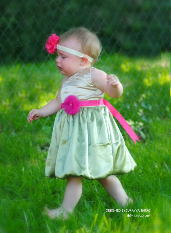 Picture of Ava Bubble Dress PDF Pattern