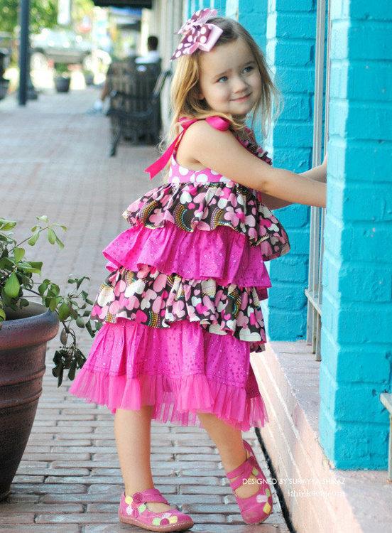 Picture of Bella Ruffled Dress PDF Pattern