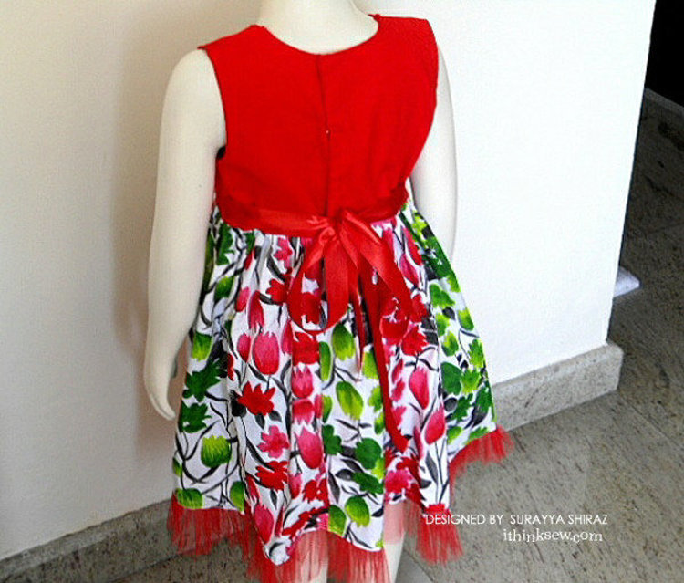 Picture of Ashley Paneled Dress PDF Pattern