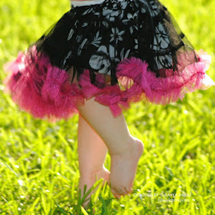 Picture of Madeline Ruffled Petty Skirt PDF Pattern