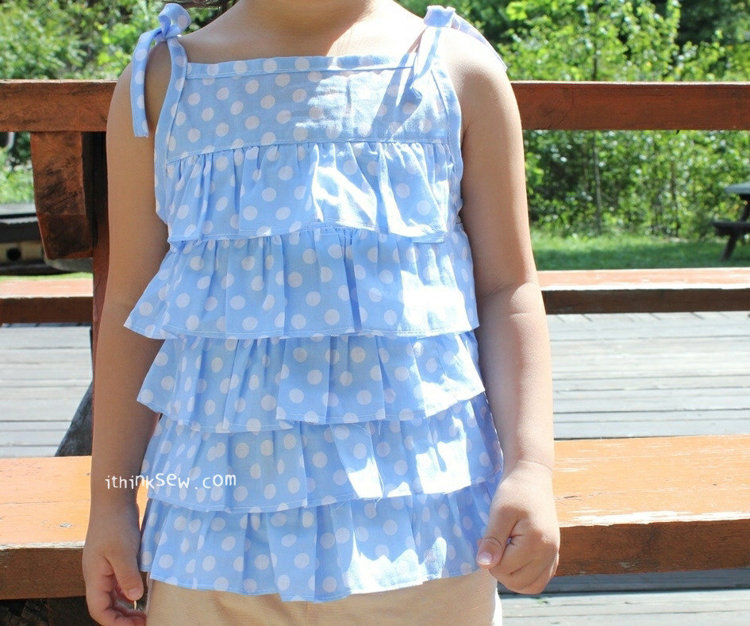 Picture of Cordelia Ruffle Blouse PDF Pattern