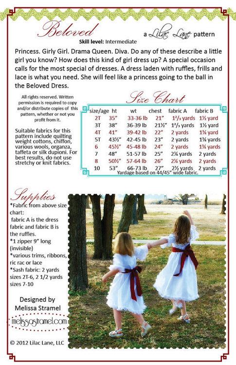 Picture of Beloved Dress PDF Pattern