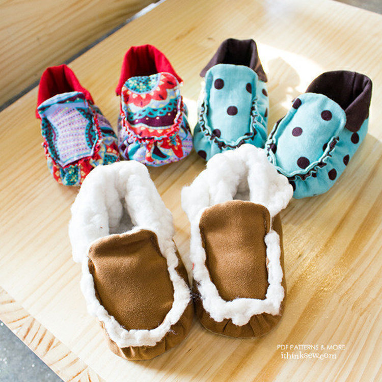 Picture of Reggie Moccasin PDF Pattern