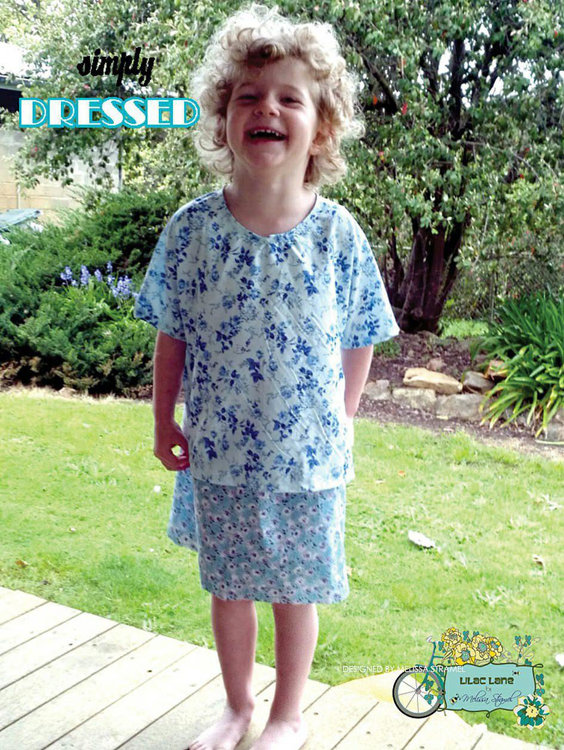 Picture of Girls Top Skirt and Dress PDF Pattern