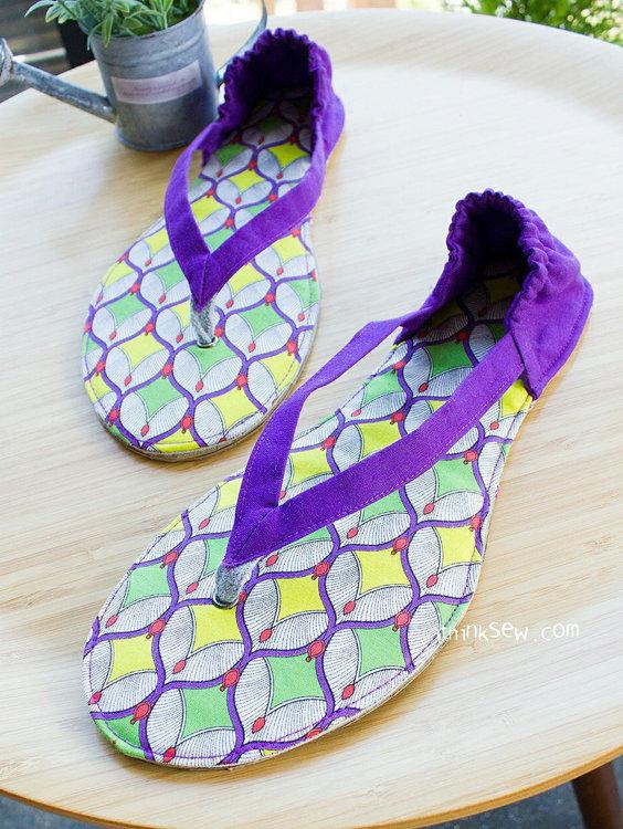 Picture of Valerie Women Flip Flops PDF Pattern
