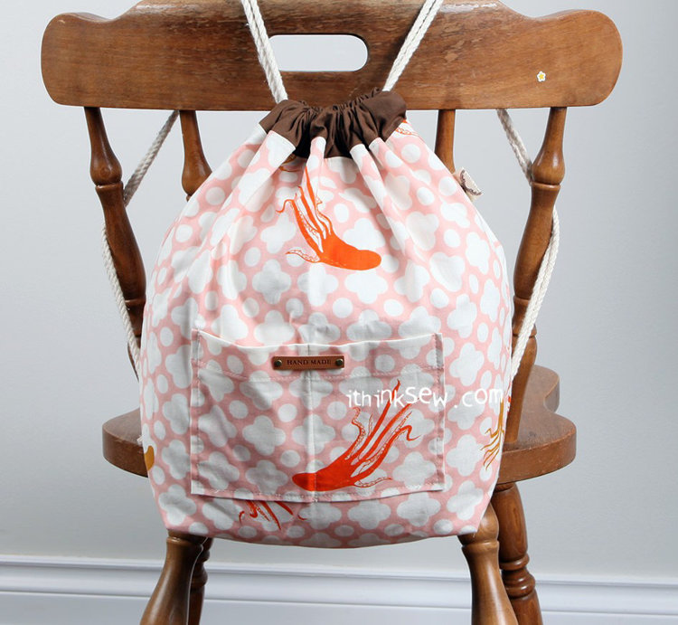Picture of Lionel Drawstring Backpack PDF Pattern 20 School License