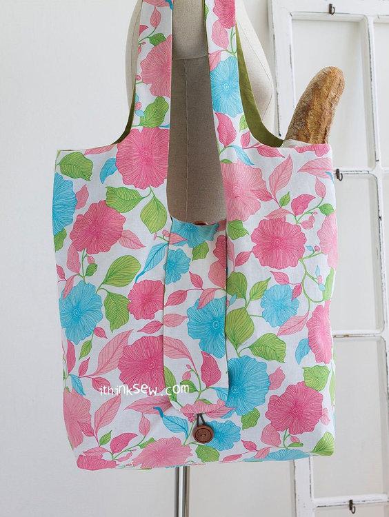 Picture of Grace Foldable Market Bag PDF Pattern
