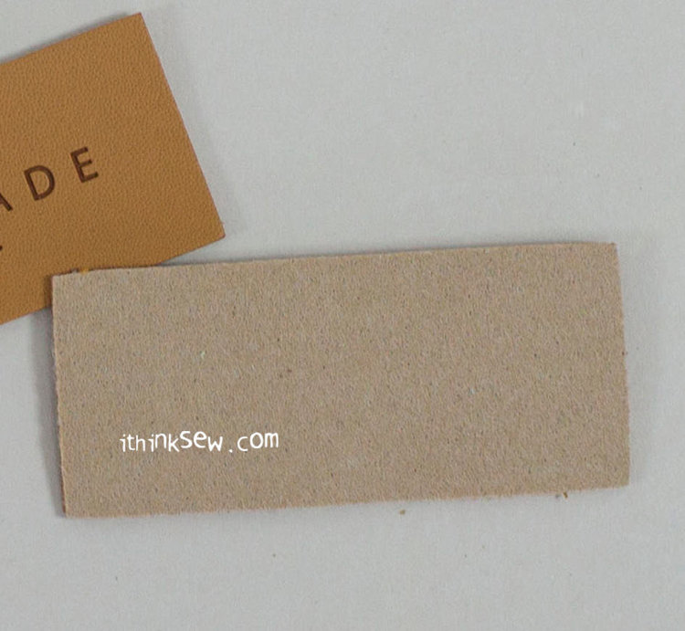 Picture of PU Leather Tag 10 EA - Brown(50mmx26mm) Free Shipping + 10% Off!