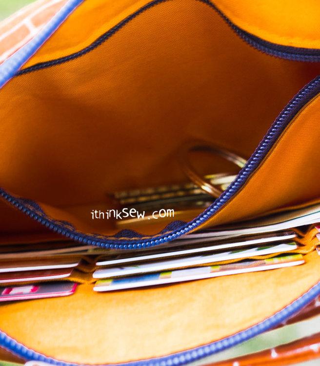 Picture of Lorine Card Zipper Bag PDF Pattern